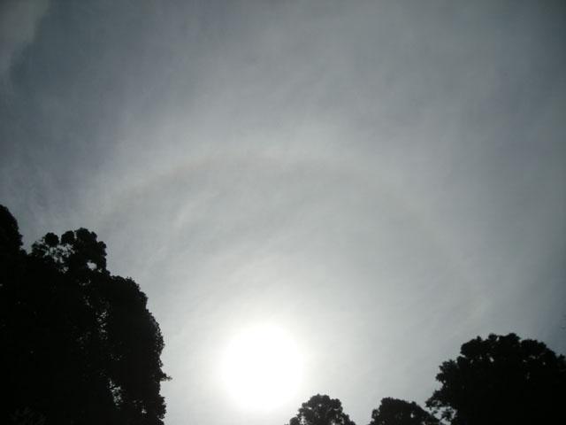 牧ノ原で出た太陽の周りの虹です