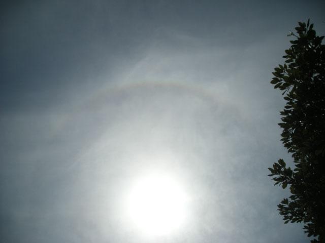 高天神神社の虹です