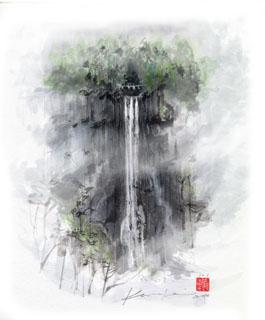 那智の滝の絵です