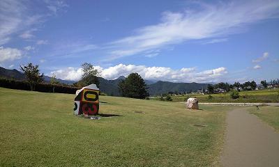 安曇野ちひろ公園の風景