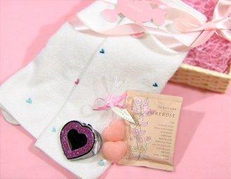ハート刺繍タオルセット