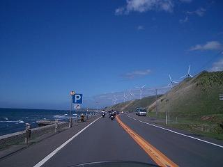 札幌メンバーと稚内に向かう途中の道道