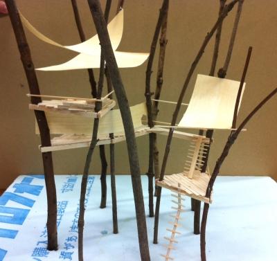 ツリーハウス模型