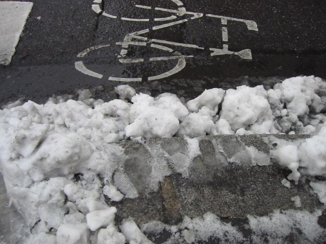 雪のシャーベット
