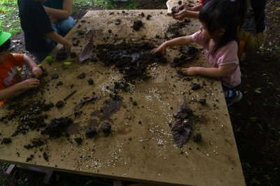未就園児遊びのテーブル