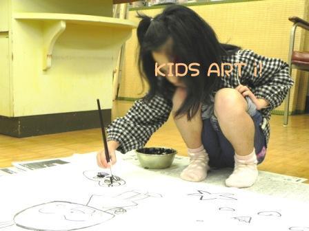 こども絵画工作教室描き初め1