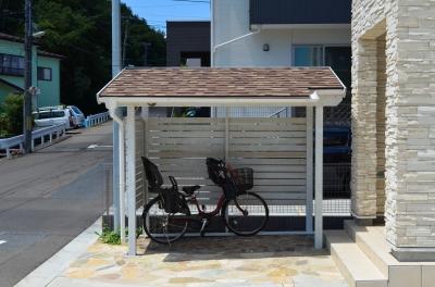 自転車用 自転車用物置 : サイクルポート、買う?作る ...