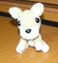 編み犬ー前