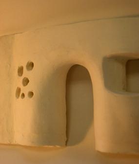 土壁の入口
