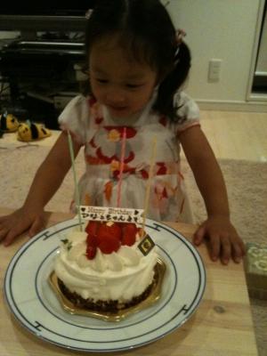 誕生日(3歳)