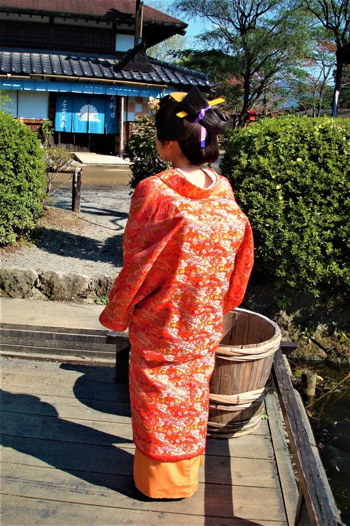 日光江戸村で大奥、髪型は 片はずし