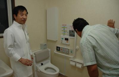 尿流量測定装置に興味津々