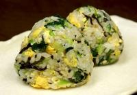 小松菜炒飯おにぎり