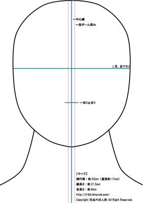 ウィッグスタンド簡易版型紙