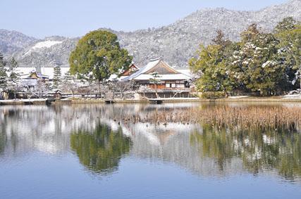 雪の大覚寺