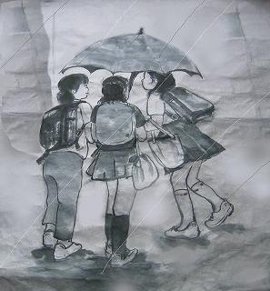 バックシャン雨
