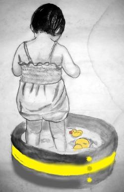 黄色のプール