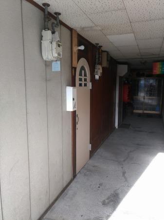 最終日・玄関
