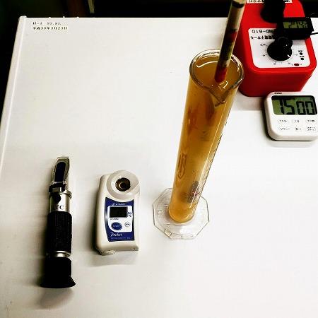 ビールの数値を測定