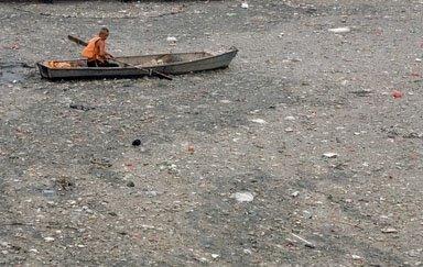 中国のゴミ川