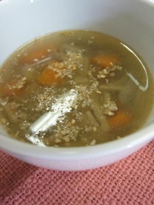 ごぼうの中華風スープ♪