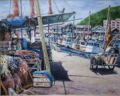 古下がりの漁港