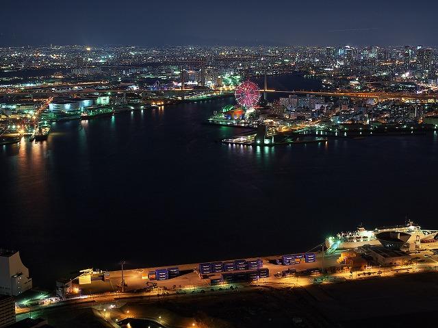 大阪府咲洲庁舎 夜景