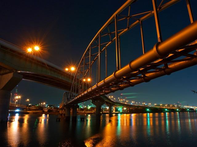 堺泉北臨海工業地帯 高石大橋 夜景
