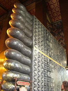 大寝釈迦仏の足の裏