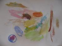 絵の具で描きました