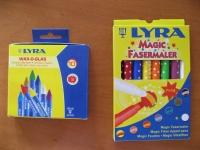 Lyra社 左:窓に描けるクレヨン 右:キッズ用魔法のマーカー