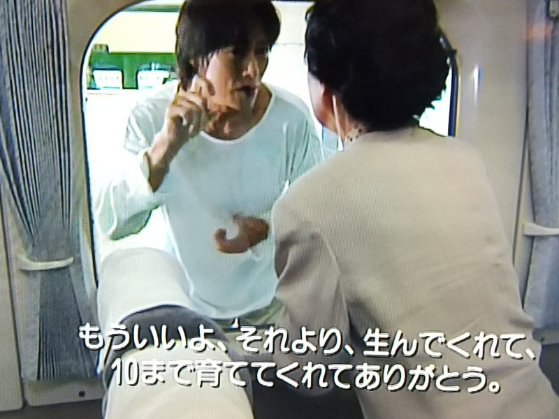 愛していると言ってくれ・新幹線並走シーン