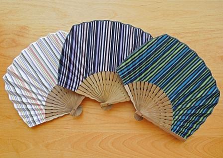 小倉織 扇子 ウチワ型
