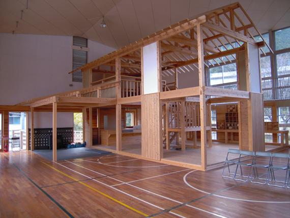 西粟倉 木の家骨格モデル