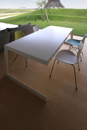 ダイニングテーブル オリジナル モダン 白 大きい シンプル スタイリッシュ