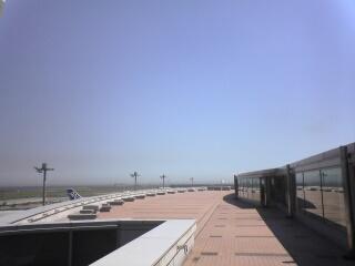羽田の空と海