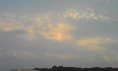 一迫 田園 山 の夕景