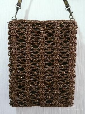 七宝編みの斜めがけバッグ1