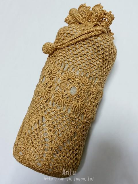 コイル編みモチーフの水筒カバー2
