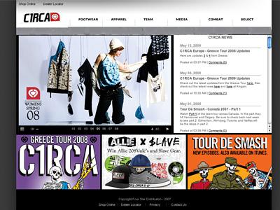 C1RCA サイトトップ画面キャプチャ