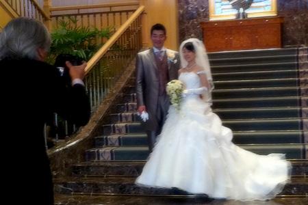 2011.01.30:あらあらと由香さんの結婚式直前の様子@木更津の式場
