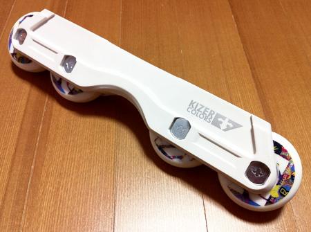Kizer SLIMLINE フレーム:全輪60mmでロッカリングのセッティング