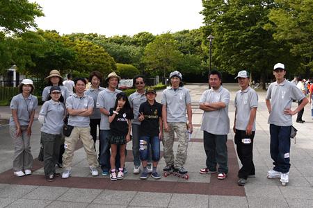 2011.05.15:limonade skate のライダーと Skate Club Limonade の集合写真・正面@光が丘カップ2011