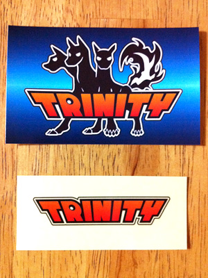 ステッカー:TRINITY;大小2種類