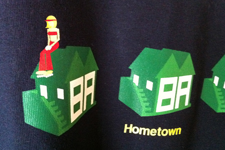 "2011 high summer collection ""3D HOUSE S/S TEE"" NV @inhabitant"