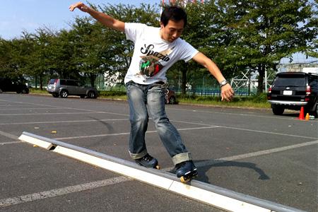 2011.09.17:スライドバーに乗るなっしーさん@上尾