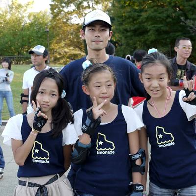 2011.10.16:リレーチームの4人(なのかちゃん、なみちゃん、せいなちゃん、自分)@2011光が丘フェイスティバル