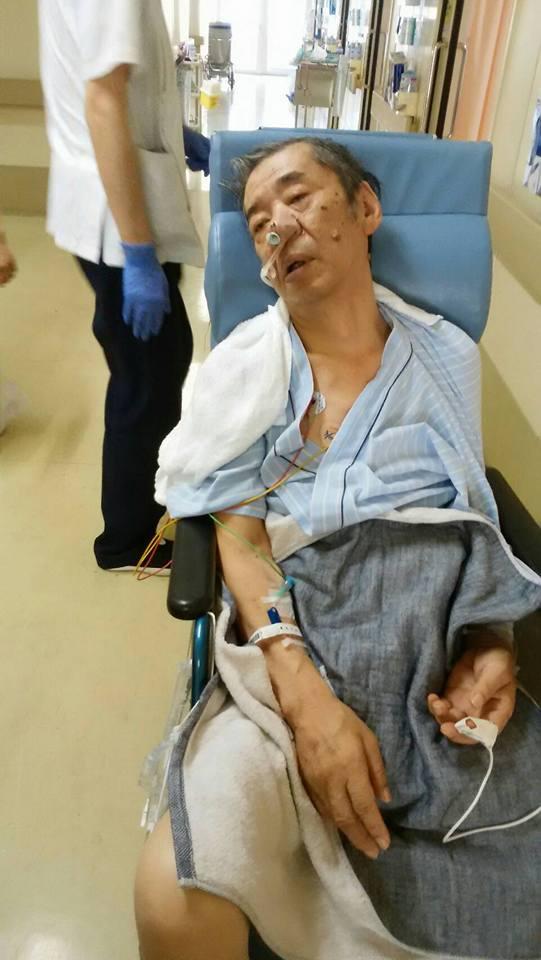 2017年3月18日最初の手術後初めての車椅子.すれ違うベージュのシャネルスーツのご婦人が「まあ可愛そうに…」と声をかけて下さった