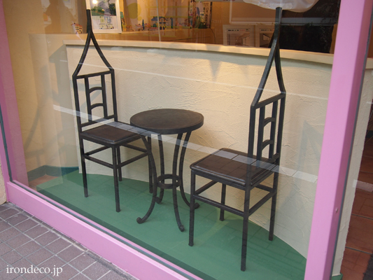 ロートアイアン・テーブルチェア・家具