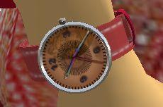 ピンクの時計!しかもピカピカ光るのですっ